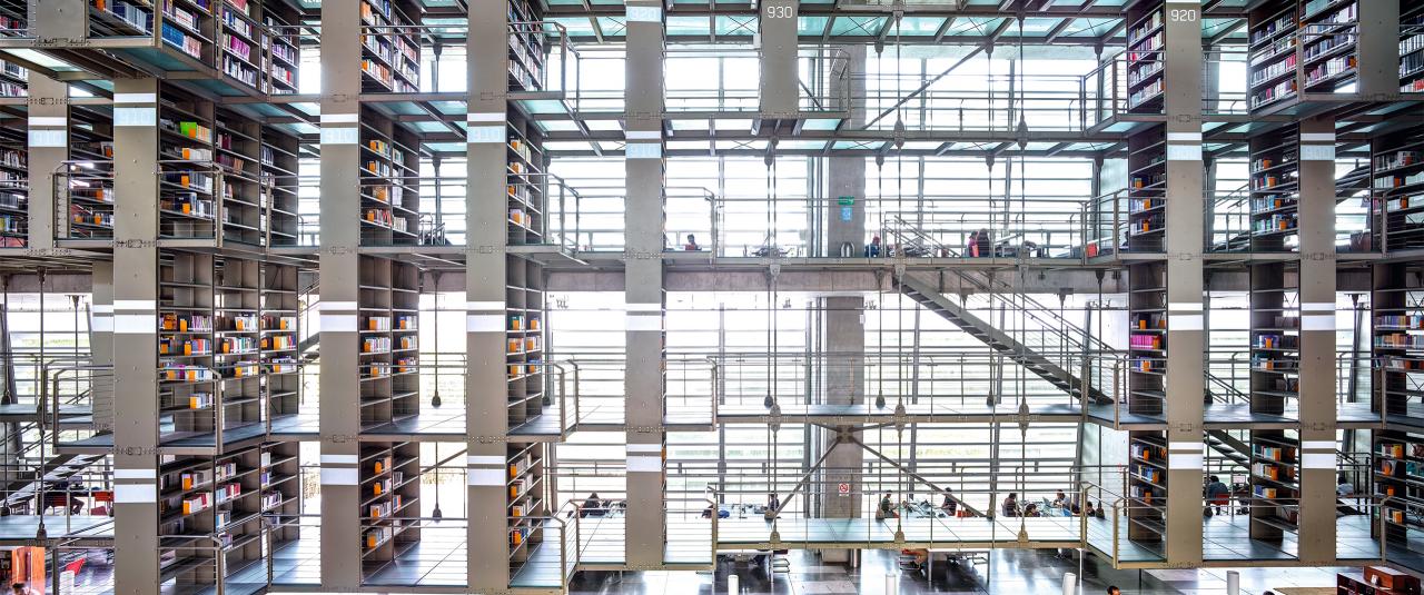 Biblioteca Vasconcelos Ciudad de México I 2015 | Candida Höfer en México | Museo Amparo, Puebla