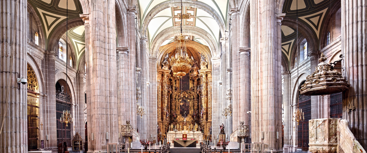 Catedral Metropolitana Ciudad de México I 2015  | Candida Höfer en México | Museo Amparo, Puebla