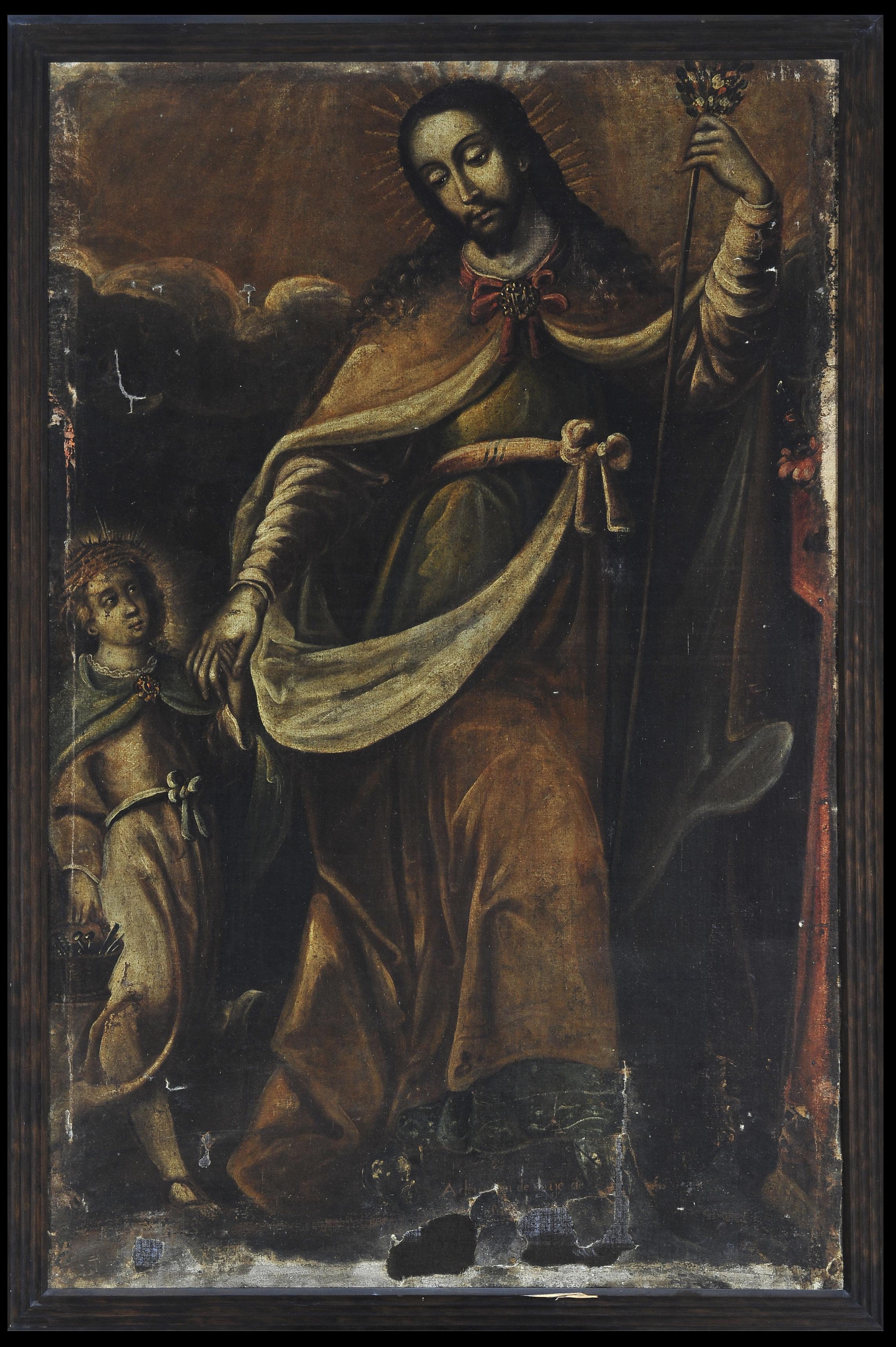José con el Niño con símbolos pasionarios | Creación y restauración: lo singular y complejo del arte | Museo Amparo, Puebla