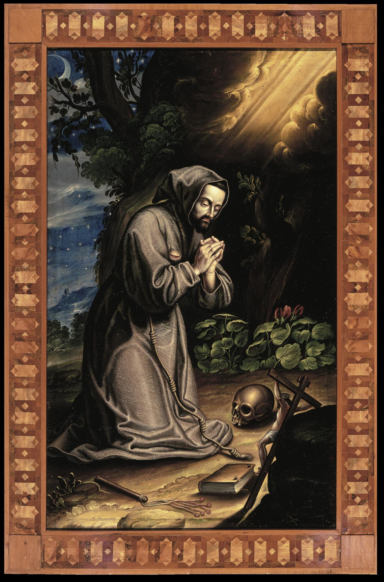 San Francisco meditando | Creación y restauración: lo singular y complejo del arte | Museo Amparo, Puebla