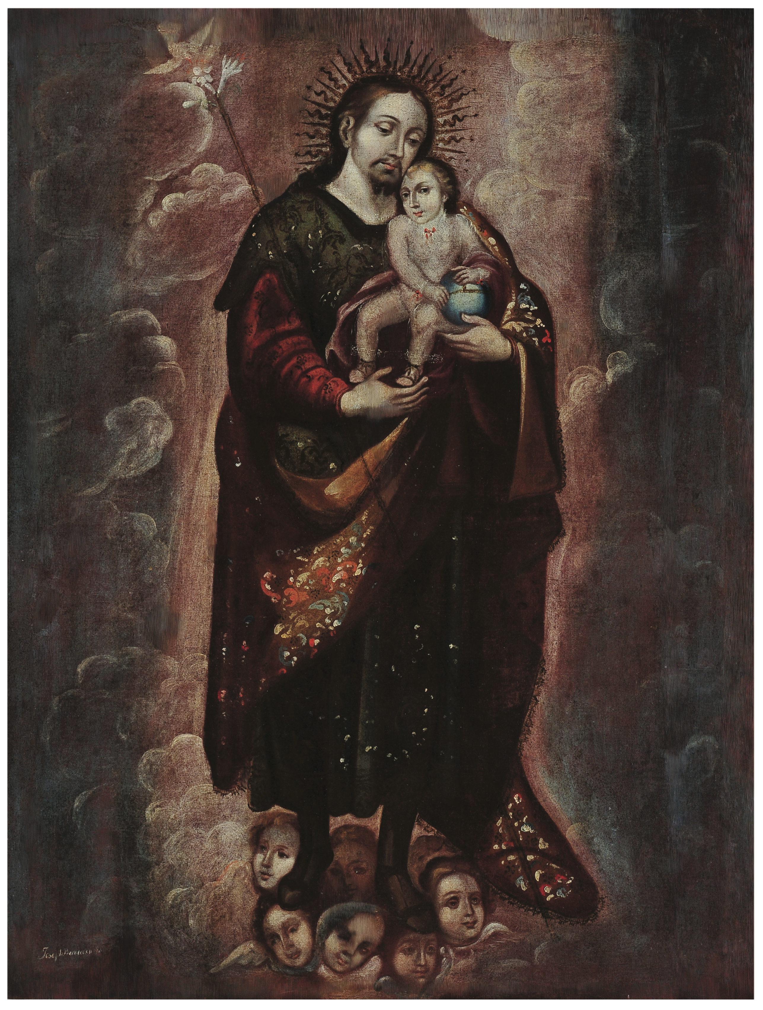 San José con el Niño | Creación y restauración: lo singular y complejo del arte | Museo Amparo, Puebla